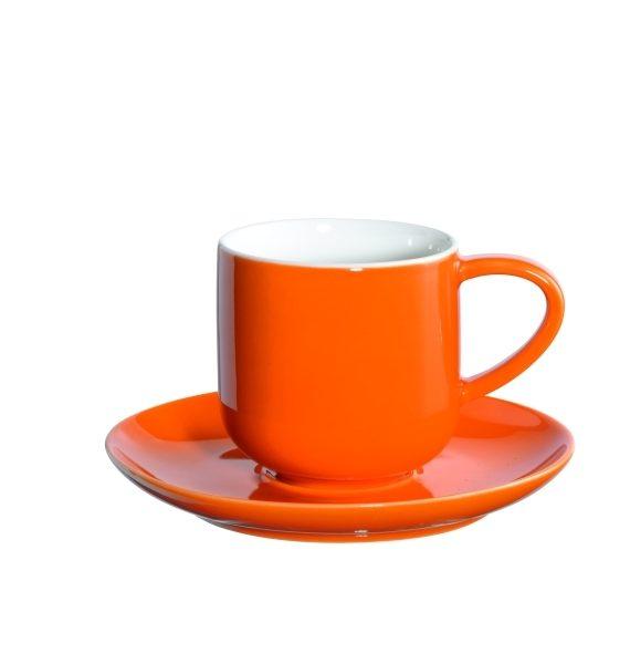 ASA Coppa Espresso Orange Cup and Saucer