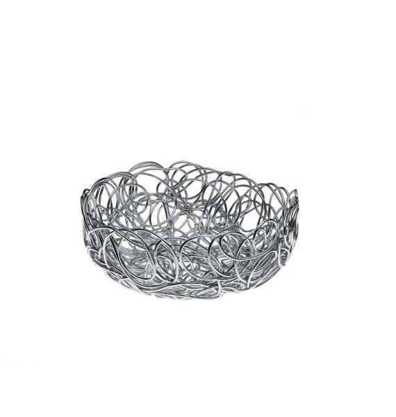 Alessi Nuvem Round Basket Aluminium
