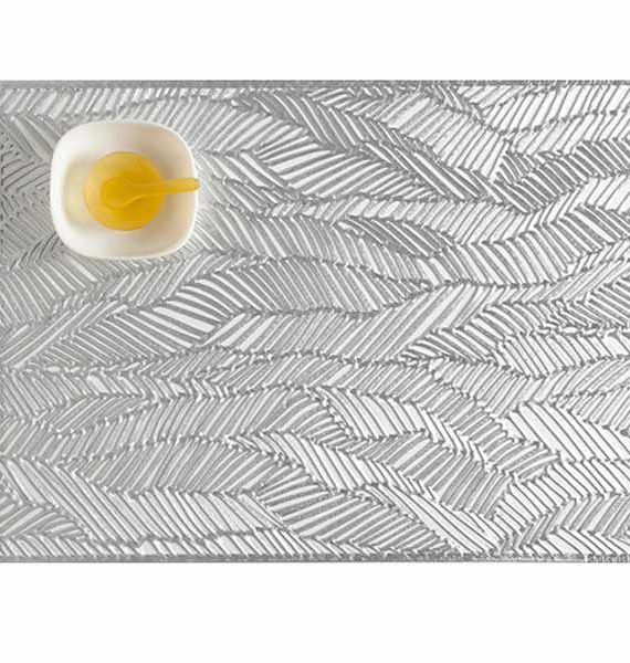 Chilewich Pressed Drift Silver Placemat-Chilewich