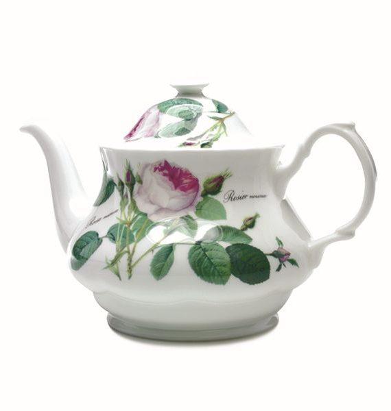 Roy Kirkham Redoute Rose Round Teapot