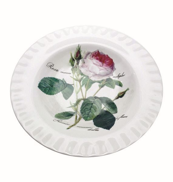 Roy Kirkham Redoute Rose Soup Plate-Roy Kirkham