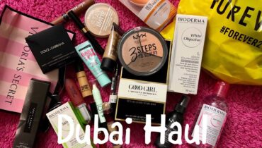 DUBAI SHOPPING HAUL | FENTY BEAUTY, MAX FACTOR, NYX, MAYBELLINE & MORE | Nidhi Chaudhary