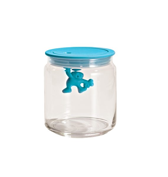 Alessi Gianni Blue Glass Jar with Lid