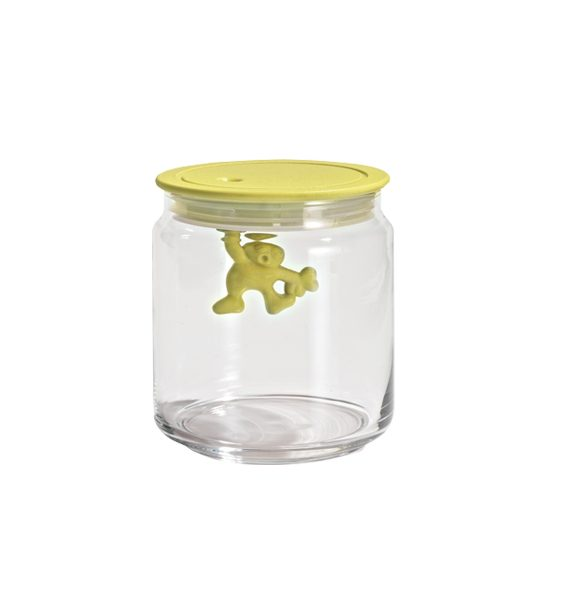 Alessi Gianni Yellow Glass Jar with Lid