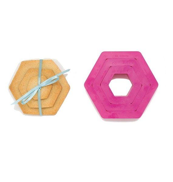 Decora Hexagon Shape Cookie Cutter Set-Decora