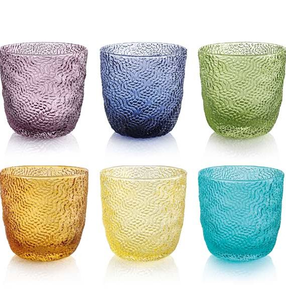 IVV Tricot 6 Piece Assorted Water Tumbler Set-IVV