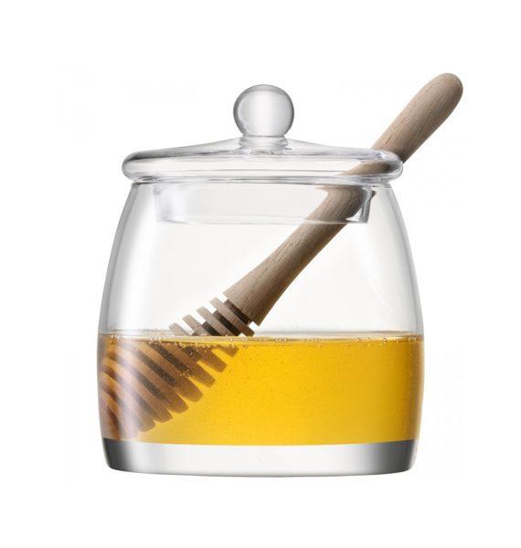 LSA International Serve Honey Pot & Oak Dipper-LSA International