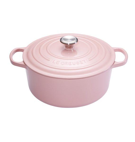 Le Creuset Chiffon Pink Round Casserole-Le Creuset