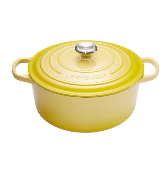 Le Creuset Sun Yellow Round Casserole-Le Creuset