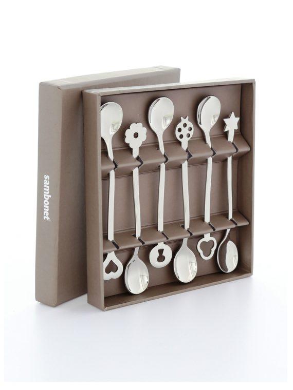 Living Portafortuna Party Spoons Set 6pc-Sambonet