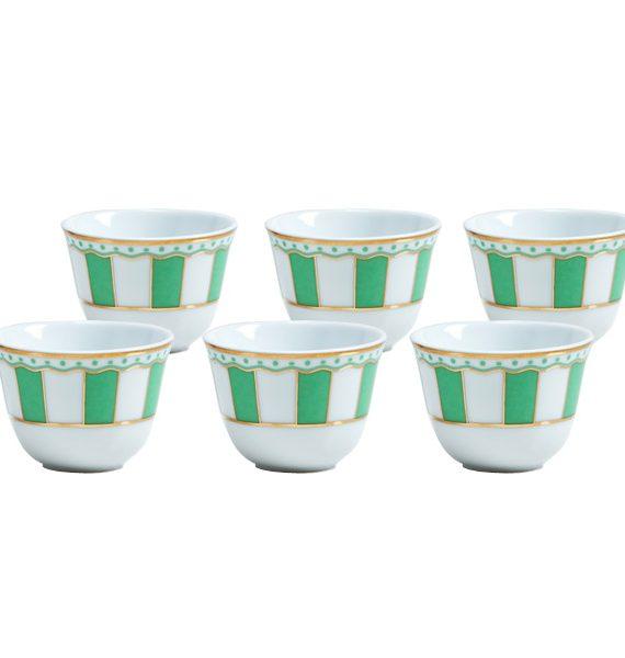 Noritake Carnivale Apple Green Arabic Coffee Cup Set-NORITAKE