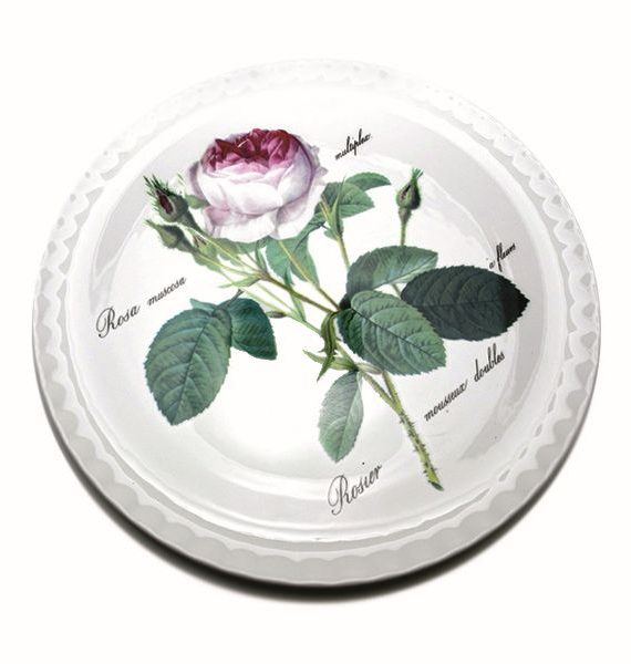 Roy Kirkham Redoute Rose Cake Plate-Roy Kirkham