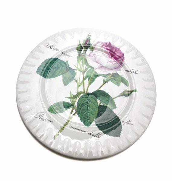 Roy Kirkham Redoute Rose Dinner Plate-Roy Kirkham
