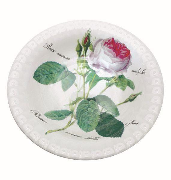 Roy Kirkham Redoute Rose Salad Bowl-Roy Kirkham