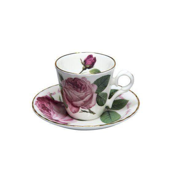 Roy Kirkham Versailles Gold Espresso Cup and Saucer-Roy Kirkham