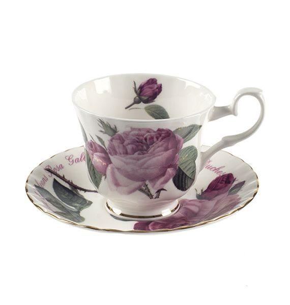 Roy Kirkham Versailles Gold Tea Cup and Saucer-Roy Kirkham