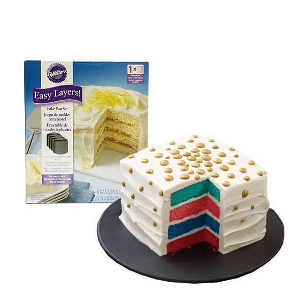 Wilton Easy Layers Square Cake Pan Set