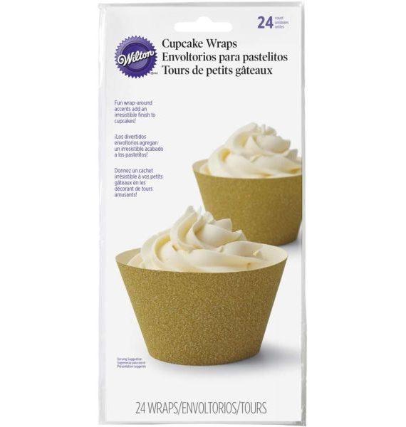 Wilton Glitterati Gold Cupcake Wraps
