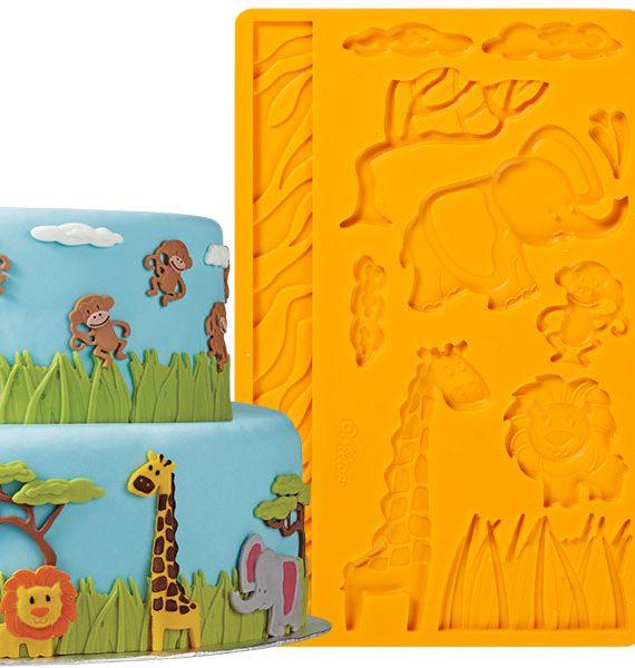Wilton Jungle Animals Fondant & Gum Paste Mold-Wilton
