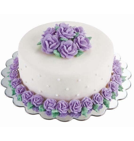 Wilton Round Silver Cake Platter-Wilton