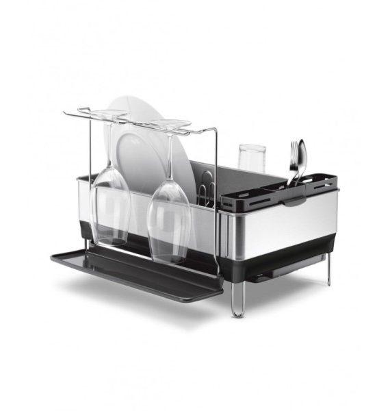 simplehuman Grey Steel Frame Dish Rack-simplehuman