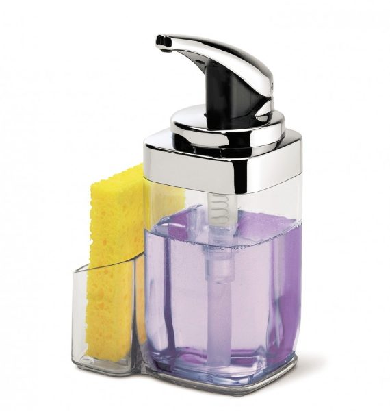 simplehuman Square Push Soap Pump With Caddy-simplehuman