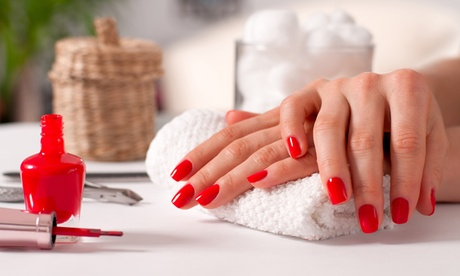 Classic Colour Manicure and Pedicure